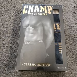 Other - CHAMP #1 Black Gold Boxer Briefs 2xl